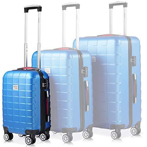 Monzana Valigia Rigida Trolley M Lucchetto di Sicurezza TSA Ruote Gommate Girevoli Blu