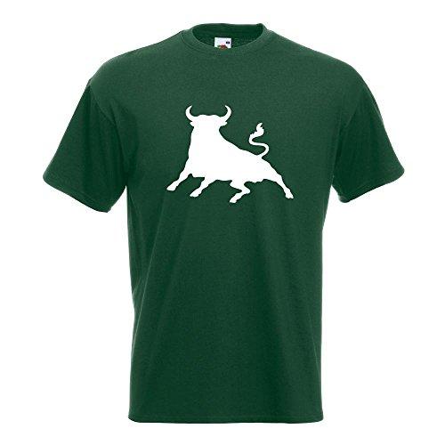 Bull Bull T-Shirt in 15 Diversi Colori - Man Print Fun Pattern Modello in Cotone S M L XL XXL
