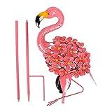 Flamingo Gartenfigur LED Solarleuchten Gartenstecker: Solar Gartenleuchte Gartenlampe Dekofigur Garten Solar Deko Lampen Weihnachten Gartendeko Figuren Tiere Rasen Terrassen Deko Statue Skulptur