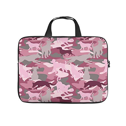 Flag Dog Pink Laptop Tote Bag Lightweight Durable Office Bag for Notebook/MacBook/Ultrabook/Chromebook White 13 Zoll