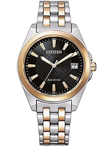 Citizen Reloj de pulsera para mujer Eco-Drive de acero inoxidable deportivo - EO1213-85E
