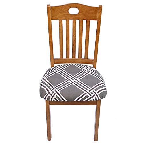 Javntouy - Fundas para silla de banquete y sillas de comedor con estampado de flores