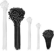 zip ties heavy duty with self-locking,YSeaWolf, 660 pack 4/6/8/10/12 Inch Multi-size, multi-color,Not easy to break and loose cable ties,UV Resistant zip tie?tie warps,plastic ties(black and white)