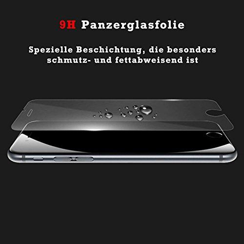 Eximmobile Silikon Case + Panzerfolie für Huawei Ascend Y530 Handyhülle mit 9H Echt Glasfolie Schutzhülle mit Schutzfolie Handytasche Silikonhülle Tasche Hülle Displayschutzfolie Displayschutz - 5