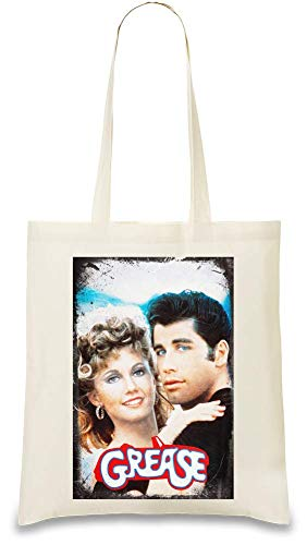 Design Things Fett Poster - Grease Poster Custom Printed Tote Bag| 100% Soft Cotton| Natural Color & Eco-Friendly| Unique, Re-Usable & Stylish Handbag For Every Day Use| Custom Shoulder Bags By