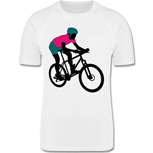 Sport Kind - Mountainbike MTB Geländefahrrad - 164 (14/15 Jahre) - Weiß - Fahrrad - F350K - atmungsaktives Laufshirt/Funktionsshirt für Mädchen und Jungen