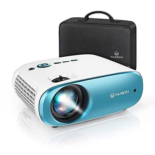 "VANKYO Cinemango 100 Portable Movie Projector, 1080P Supported and 220"" Display Outdoor Video Projector, Compatible with TV Stick/Laptop/PS5 via VGA, HDMI, USB, AV, AUDIO Ports and Memory Card Slot"