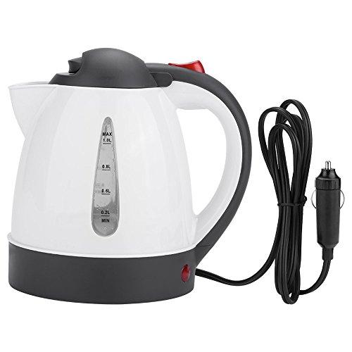 Fdit Auto Wasserkocher Tragbare 1000 ml 24 V Reise Auto LKW Wasserkocher Wasser Heizung Flasche für Tee Kaffee Machen