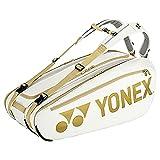 ヨネックス(YONEX) テニス ラケットバッグ9 大坂なおみ使用モデル 9本用 ホワイト/ゴールド BAG02NNO 78×38×33(cm)