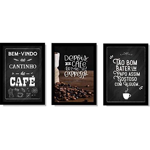 Placas Decorativas Cantinho do CaféÁrea Gourmet Cozinha com Moldura e Vidro