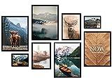 ARTFAVES® Poster Set - MYSTI Mountains   Wanddeko