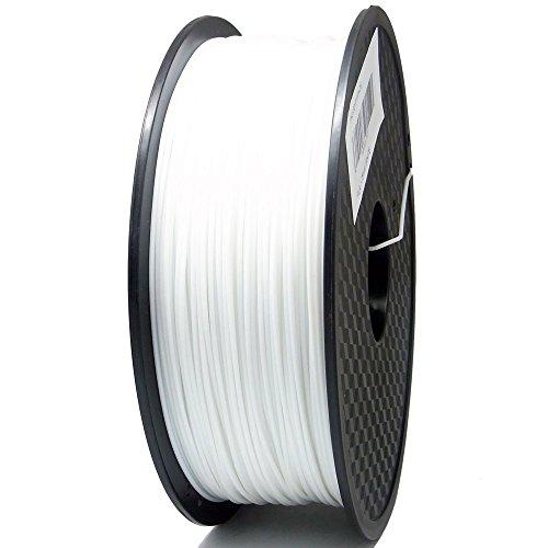 S SIENOC 1Kg PLA 1,75mm 3D Printer Filamento Spool 3D Materiale di stampa per stampanti (PLA Bianco)