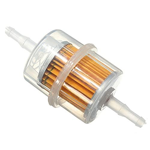 2 / 5PCS 6 mm 8 mm Diámetro interno Tubería de diámetro interior/Filtros de combustible Universal para el césped del césped Filtro de aceite de motocicleta Pequeño Motor (Color : 5PCS)