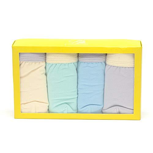 SBL SBL Baby Baumwolle Kinderunterwäsche - Jungen Boxershorts - Junge Baby Unterwäsche Vier Geschenkboxen,Farbmischung,S