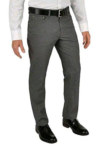 English Laundry Mens 5 Pocket Textured Pant (Med Grey, 40 x 32)