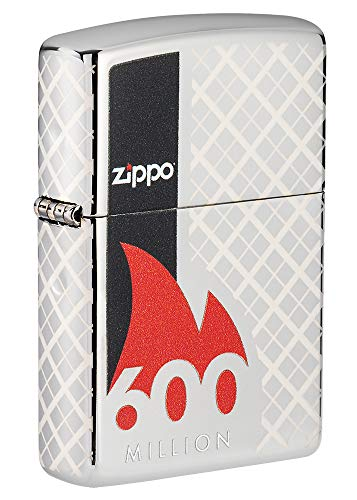 Zippo 600th Million Lighter Commemorative Lighter-600th Limited Edition, Messing, Chrom, Pocket Size