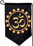 Click15 OM-Zeichensymbol-Garten-Flaggen-Fahnen-Dekoration-Doppelseitige Yard-Flagge im Freien 12.5x18 Zoll