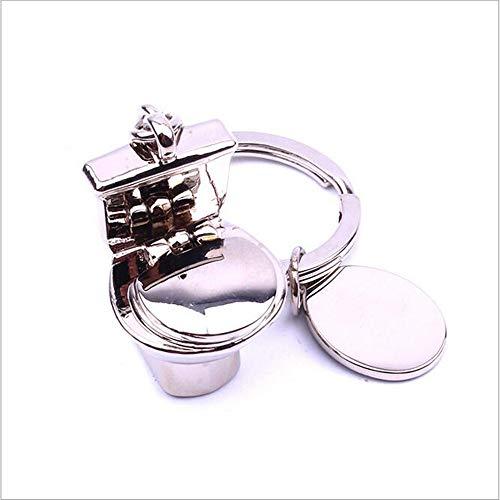 Metalen sleutelhanger creatieve wc badkamer promotionele producten tag metalen kaart gift reclame materialen