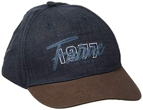 camel active Herren CAP-6-PANEL Schirmmütze, Blau (Denim Blue 43), Medium (Herstellergröße: M)
