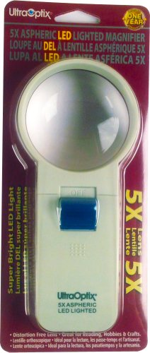 2.5-Inch Round LED Magnifier 5X