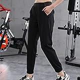 MLLM Aeróbico Pilates Fitness Pantalones,Pantalones de Fitness Ropa de Yoga, Pantalones Harem Deportivos para Mujer-Negro_XL,Mujer Feeling Leggings Deportivas