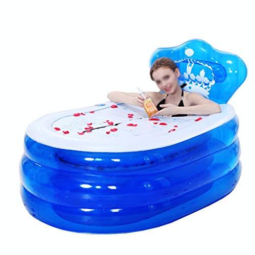 Chicti Opblaasbare badkuip, pvc, opvouwbare badkuip, verdikt zwembad, met deksel en elektrische pomp, eenvoudig in te stellen