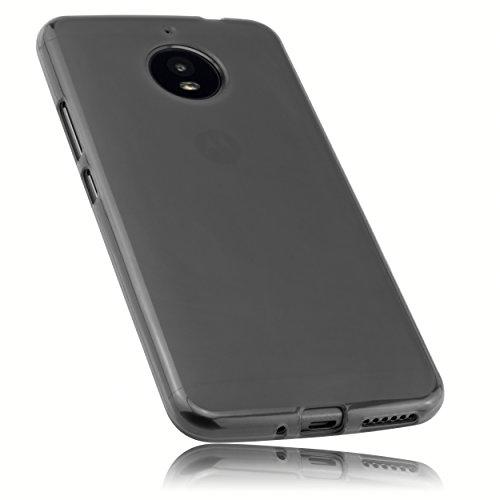 mumbi Funda Compatible con Lenovo Moto E4 Plus Caja del teléfono móvil, Negro Transparente