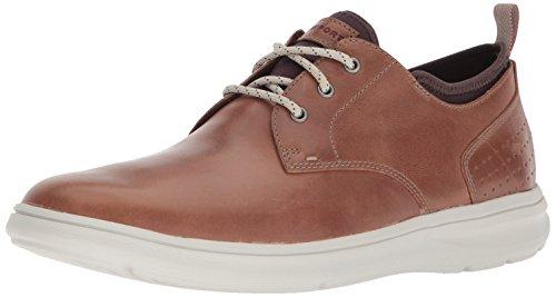Rockport Men's Zaden Plain Toe Ox Shoe, boston tan leather, 12 M US