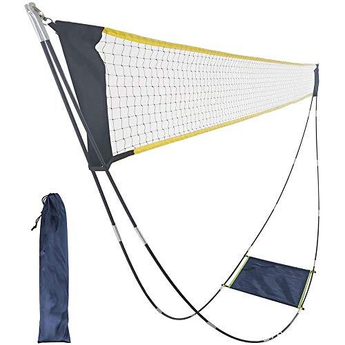 Badminton netz, tragbares faltbares Standardnetz, abnehmbare Tennisnetze, Easy Setup Sportnetz Rack, einfaches Setup für Außen- / Innenplätze, Hinterhöfe, keine Werkzeuge oder Pfähle erforderlich