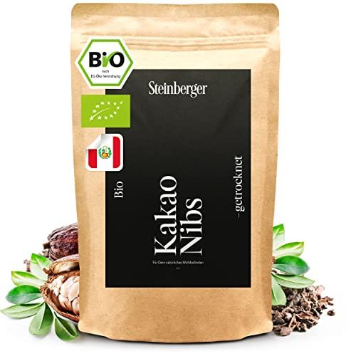 BIO Kakaonibs 1000g laborgeprüft, ohne Zusätze   Kakao Nibs aus peruanischen Kakaobohnen   Superfood vegan im wiederverschließbaren Aromapack