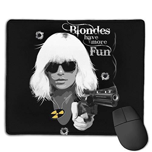 25X30CM Blondinen haben mehr Spaß Atomic Blonde rutschfeste Gaming-Mauspads Mausmatte