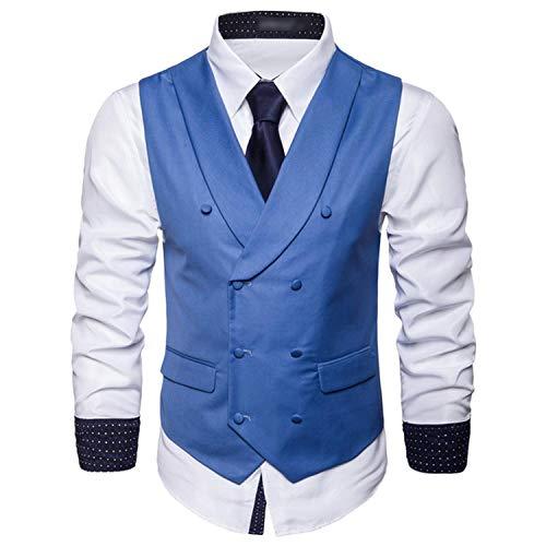 Chaleco para hombre con cuello de solapa de doble botonadura