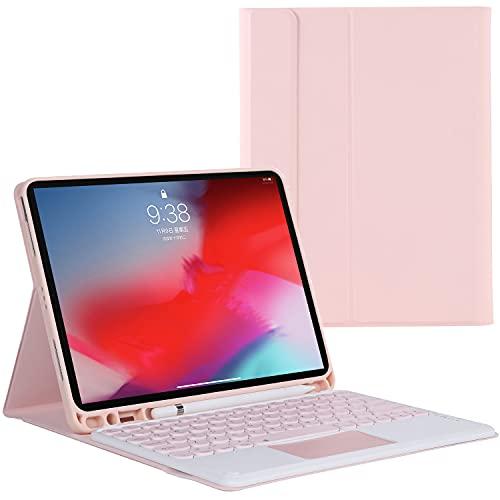 ZOMUN Capa de teclado para iPad Air 2019 de 10,5 polegadas (iPad Air 3)/iPad Pro 10.5, teclado Bluetooth sem fio, destacável/Trackpad, capa traseira de TPU macio, com suporte para lápis