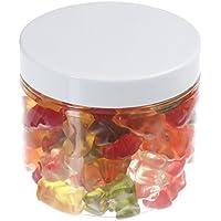 Tarros de 200 ml de PET transparente, con tapa de plástico blanco, 10 piezas