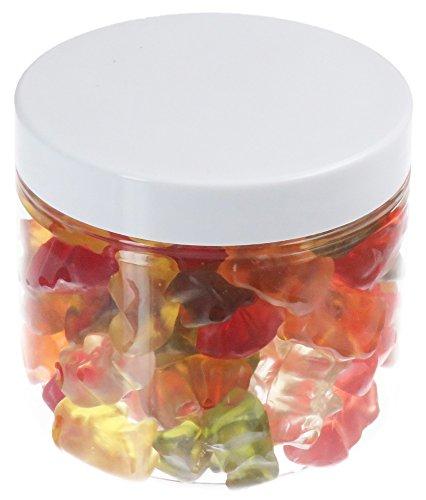 Pot de PET 200 ml transparent, avec couvercle en plastique, blanc, 10 pièces