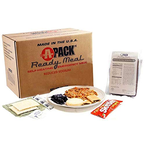 MRE Sure-Pak Self-Heating Full Meal Case of 12 with MRE Heaters