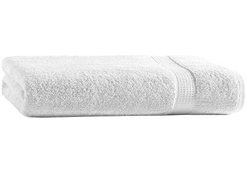 Top Fuel Fashion Badetuch Elegance 48001 Handtuch 100x150 cm Frottier Baumwolle weiß (weiß)