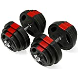 TnP Accessories. Tri-Grip Dumbbell Weights Set 20KG / 30KG / 40KG / 50KG Dumbbells Bar Set for Bicep Tricep Chest Weight Lifting Training Exercise Sets (30KG Set)