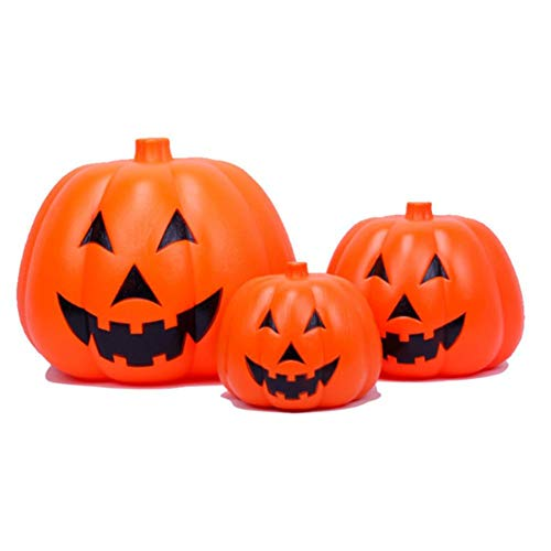 kioski Pumpkin Lantern, Halloween String Lights, Halloween Decoration Pumpkin Autumn Decoration with Speaker for Ghost Atmosphere Festival Dress Up Party Ornaments Store Halloween Table Decor