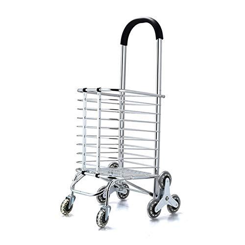 Yeah-hhi Sackkarre Einkaufsgepäckwagen-Aluminiumlegierungs-faltendes tragbares mit Kasten-8 rundem Warenkorb-älterem Supermarkt-Einkauf