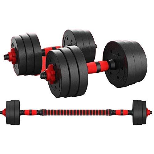 Kit Mancuernas Regulables 20KG Perpetual.Fitness Musculación Juego Pesas 2 en 1 Barra...