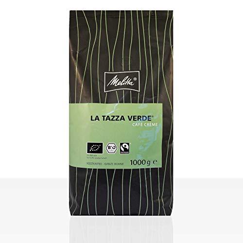 Melitta La Tazza Verde Cafe Creme Bio Fairtrade - 1kg ganze Kaffee-Bohne