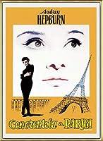 ポスター アーティスト不明 オードリー・ヘプバーン パリの恋人 額装品 アルミ製ベーシックフレーム(ゴールド)