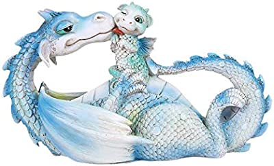 Pacific Giftware Lovely Dragon Mother with Baby Dragon Motherhood Family Resin Figurine