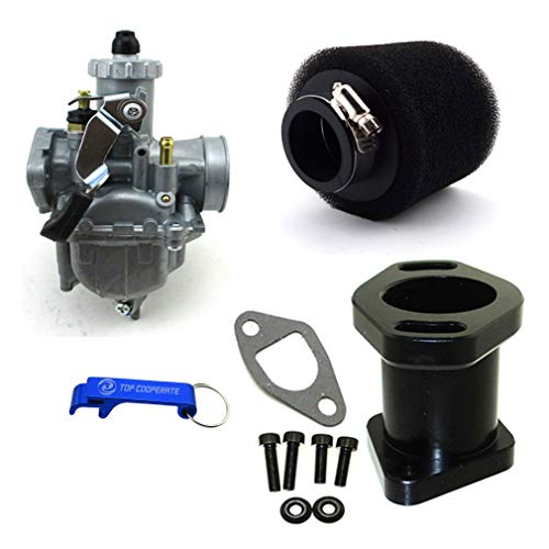 TC-Motor Racing Performance Carburetor Carb Mainfold Air Filter For Predator 212cc GX200 196cc Mini Bike Go Kart (Black)