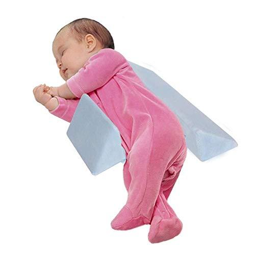 mama stadt Baby Side Schlafkissen, Dreieckskissen Baby Side Kissen Abnehmbares und Waschbares Samtkissen, Blau
