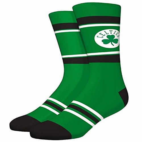 NBA Boston Celtics Unisex Stripe Crew Socks, Multicolor, Large