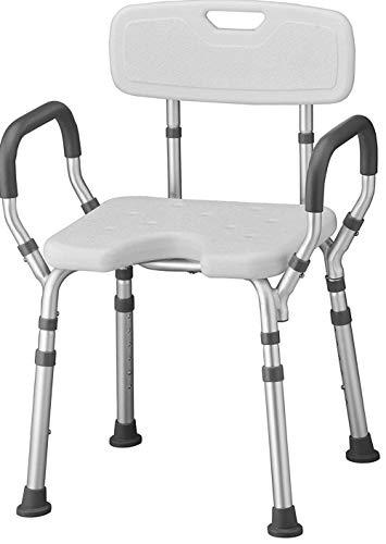 Armrest Bathtub Lift Chair Dusch- und Badstuhl mit Rücken und Armen, Schnell & einfach Werkzeuge Kostenlose Montage, Leichter & Sitzhöhenverstellbarer Hoch Duschstuhl für ältere Menschen