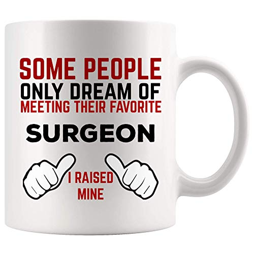 La gente sueña con la reunión del cirujano favorito Taza Taza de café Levanté la mía Día del padre Madre   Mejor médico Cirujano plástico ortopédico oral Cirujano cardíaco pediátrico Taza de café Q2OD