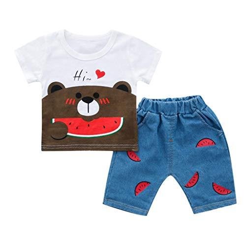 Poachers Poachers Kleinkind Kind Baby Jungen Mädchen Bär T-Shirt T Tops Shorts Hosen Outfits Set